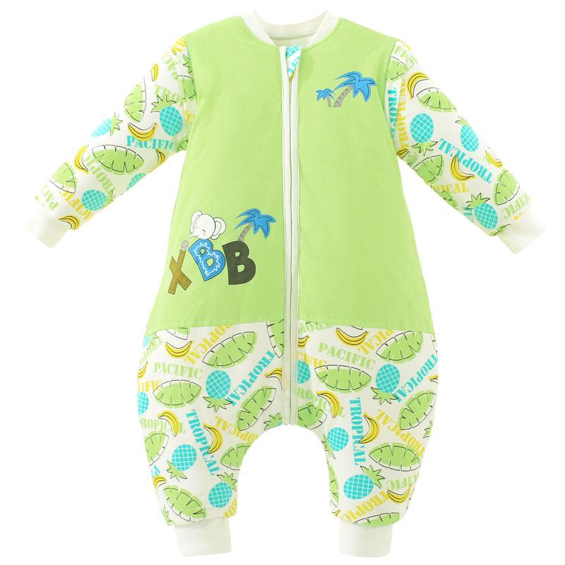象宝宝 婴儿睡袋冬儿童睡袋 加厚防踢被宝宝睡袋_布丁baby分腿睡袋