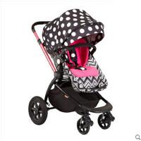 gb好孩子GB08-W婴儿推车高景观四轮避震宝宝手推车可躺可坐折叠GB08-W 紫色-L446RP