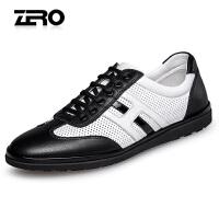 Zero零度休闲男鞋2017夏季新品系带透气单鞋潮鞋舒适平底鞋加州鞋R72092