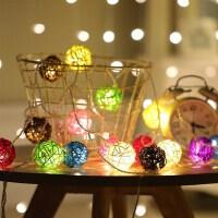 LED彩灯闪灯串灯泰国藤球灯浪漫婚房装饰灯电池霓虹灯房间小彩灯