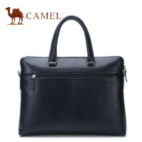 Camel骆驼男包2017新款男士手提包牛皮单肩斜挎横款公文包男