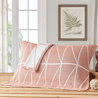纯棉枕巾两条装色织提花卡通情侣枕巾一对装纯棉枕巾两条装