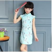 儿童旗袍棉麻女童新款中国风唐装幼儿民族风古筝演出服装儿童服装支持礼品卡支付