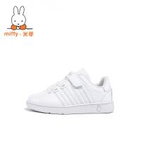 Miffy米菲 童鞋女童运动小白鞋男童春秋新款滑板鞋儿童休闲鞋子