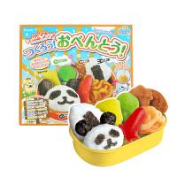 【满159包邮】日本知育果子 快乐厨房午餐便当 29g 台湾美味无添加剂手工儿童午餐便当 日本进口零食食玩一体
