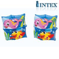 INTEX海豚手臂圈59650 儿童游泳泳圈手臂圈水袖浮圈 游泳技能开发