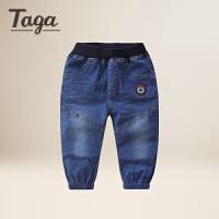 TAGA童装男童牛仔裤儿童百搭宝宝短裤男童七分裤