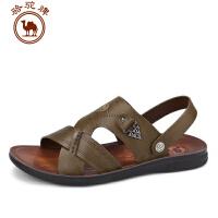 骆驼牌男凉鞋 夏季新品日常休闲男鞋露趾舒适透气男沙滩凉鞋子