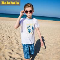 巴拉巴拉童装儿童短袖套装男夏中大童2017新款衣服男童两件套半袖