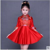儿童旗袍新款女童唐装古筝演出服中国风小女孩中式童装连衣裙儿童服装支持礼品卡支付