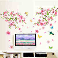 朵朵桃花创意墙贴客厅卧室墙壁贴纸墙画儿童房装饰餐厅贴花贴画纸1