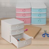 爱丽思IRIS  迷你办公桌面文具文件抽屉式储物整理盒收纳柜AT521