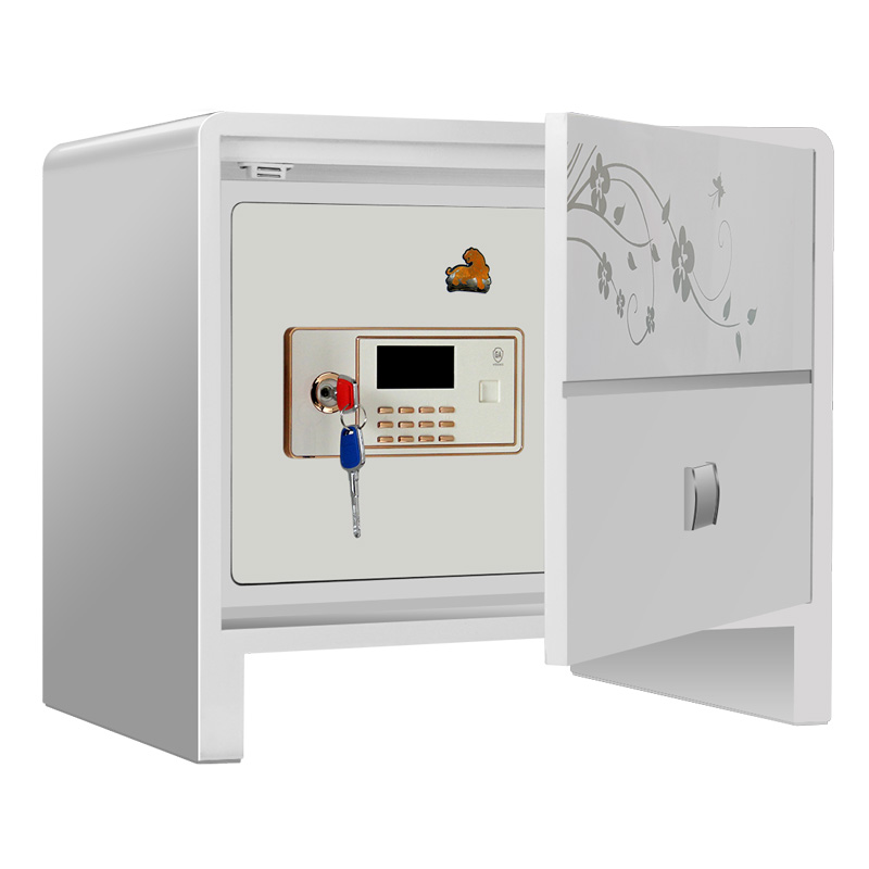 虎牌欧式床头柜双保险隐藏式家用安全隐形保管箱床头柜式保管柜总高
