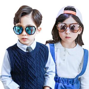 KK树新款宝宝太阳镜男女童个性潮儿童墨镜时尚防晒紫外线眼镜