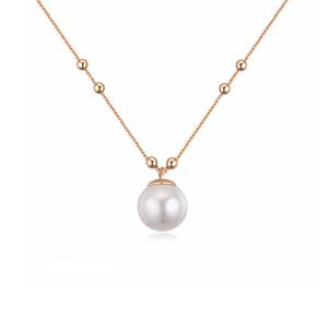 芭法娜 涵菡 镀真金时尚贝珠项链 新年礼物