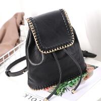 莫尔克(MERKEL)韩版时尚编织链条双肩包女复古百搭女士链条背包书包旅行背包