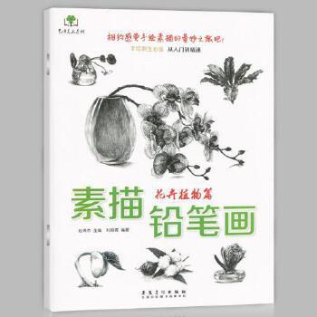 正版 素描铅笔画 花卉植物篇 画桃花月季百合等画法 手绘新生必备从
