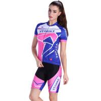 户外女款骑行服短袖套装 单车骑行服装