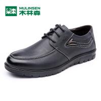 木林森男鞋 春季新款男士商务休闲皮鞋 透气舒适轻便男皮鞋05367124