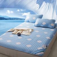 御目 凉席三件套 卡通夏季折叠空调席子天丝软席1.5/1.8m床品床单学生成人枕头枕套礼品卡家居床上用品