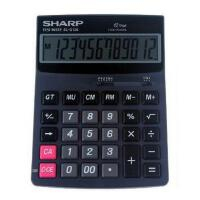 计算器 夏普 EL-G120大号财务办公计算器 商务双电源大按键计算机