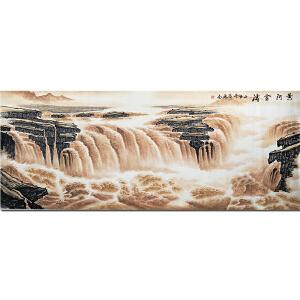 一级书画师、中国书画家协会会员化卫东《黄河金涛1》