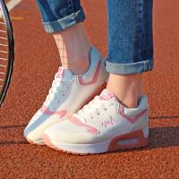 春季女鞋韩版百搭休闲鞋系带学生运动鞋女式百搭气垫鞋子青春
