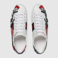 GUCCI女士花卉刺绣复古运动鞋