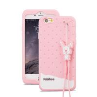 法芘兔 iphone6手机壳4.7寸6s保护套苹果6s手机壳苹果六硅胶挂绳