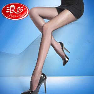 【3条装包邮】夏季新款浪莎丝袜12D超薄天鹅绒V裆防勾丝连裤袜薄款美腿肉色瘦腿袜子女