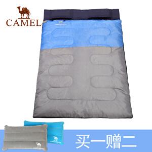 camel骆驼户外双人睡袋 耐潮防寒保暖便携睡袋露营野营