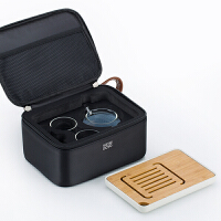 尚明茶具套装随身旅行功夫玻璃茶具整套装玻璃茶壶茶杯便携包L002