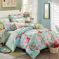 纯棉四件套全棉被套床单婚庆1.5宿舍三件套1.8米床上用品1.2m