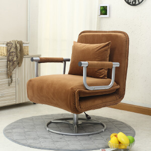 折叠沙发椅沙发床办公休闲旋转沙发椅单人多功能懒人沙发简约布艺