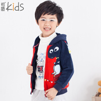 初语童装 冬装新款男童 外套加绒时尚儿童外套 T5414010041