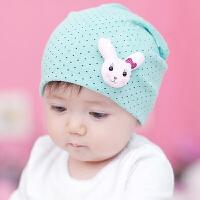 货到付款 Yinbeler 卡通小动物胎帽 春秋冬0-6-12-18个月男女宝宝帽子儿童套头帽新生儿胎帽