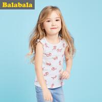巴拉巴拉儿童背心女小童童装2017夏新款幼童女童吊带背心无袖
