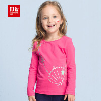 季季乐童装2017秋季新款可爱甜美儿童时尚长袖T恤中小童打底衫女