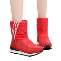 冬季中筒厚底学生女鞋短靴加绒雪地靴防水保暖棉鞋女靴子