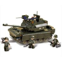 小鲁班益智拼装积木儿童智力拼插玩具坦克车模型男孩6岁以上