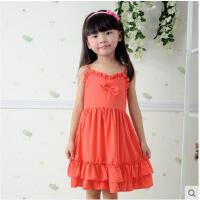 童装女童韩版连衣裙 儿童荷叶夏装新款边吊带裙子可礼品卡支付