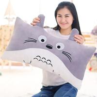 龙猫公仔抱枕毛绒玩具儿童女孩卡通睡觉枕头被子布娃娃生日礼物女
