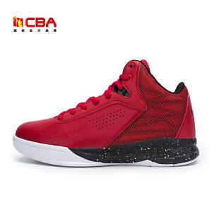 CBA正品篮球鞋 男中高帮运动鞋2017新款篮球战靴耐磨透气外场球鞋