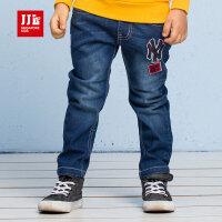 jjlkids季季乐男童裤子春秋款新款时尚百搭休闲直筒小孩子牛仔裤子BCK63055