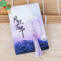 【满100减30】 乌龟先森 古风明信片 夜光中国风复古典创意盒装贺卡手绘盒装卡片风景名信片