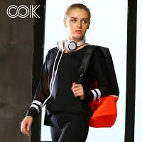 瑜伽服健身服女秋冬套装跑步服健身房运动长袖上衣显瘦七分裤两件