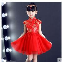 儿童旗袍女童新款短袖唐装公主裙小女孩中国风童装演出服儿童服装支持礼品卡支付
