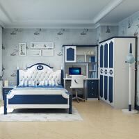御目 儿童套房 地中海儿童床男孩女孩单人床1.2米1.5米青少年王子床儿童家具套房组合满额减限时抢礼品卡创意家具