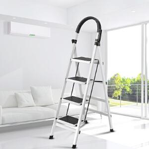 御目 家用梯 家用便携折叠梯子加固加厚人字梯防滑踏板梯折叠加厚移动楼梯室内四五步扶梯人性化多功能耐用梯子 创意家具