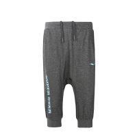鸿星尔克(ERKE)童装儿童运动裤 轻柔舒适运动七分裤裤 休闲学生运动裤